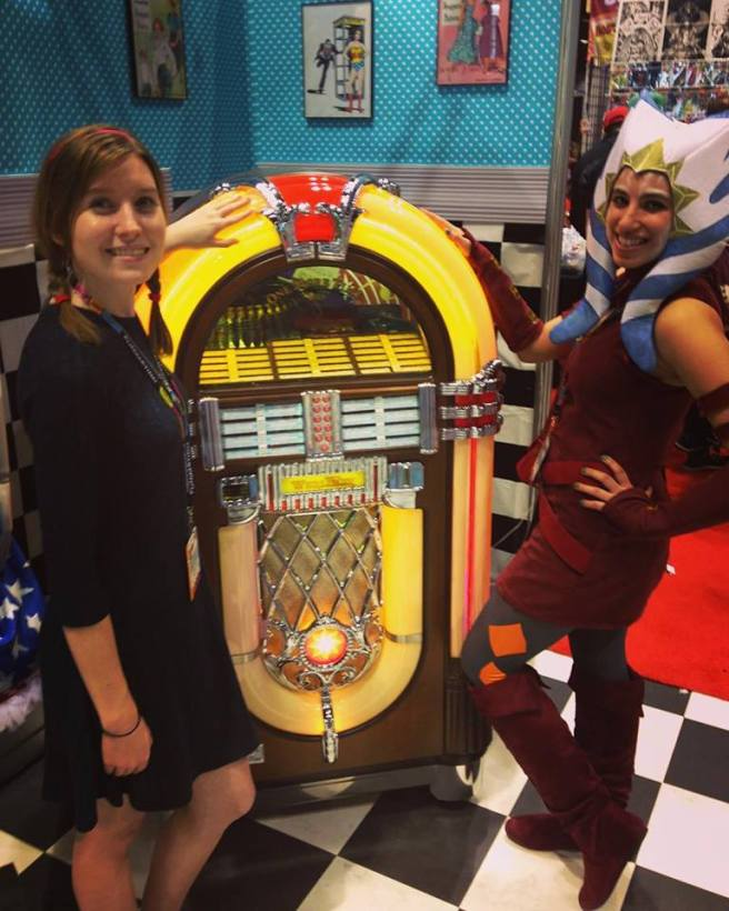 ahsoka and sheeta at the jukebox