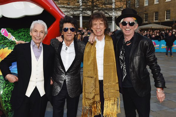 more rolling stones in front of the exhibit